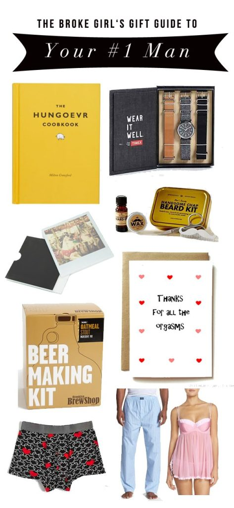 Broke Girl's Gift Guide: Valentines Day Gifts For Your Boyfriend