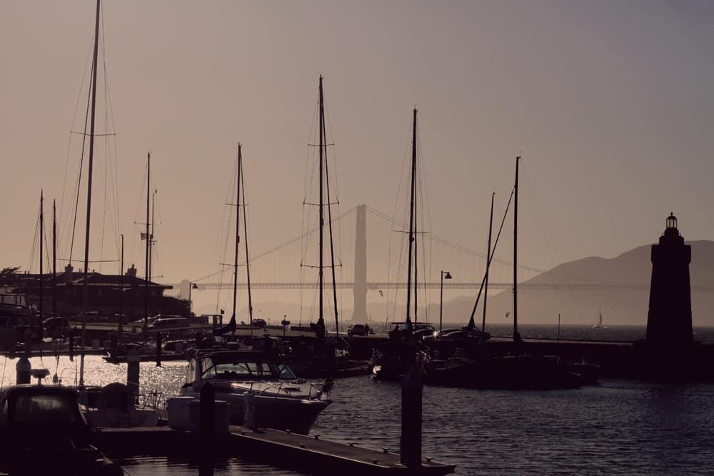 San Francisco Marina Golden Gate Bridge