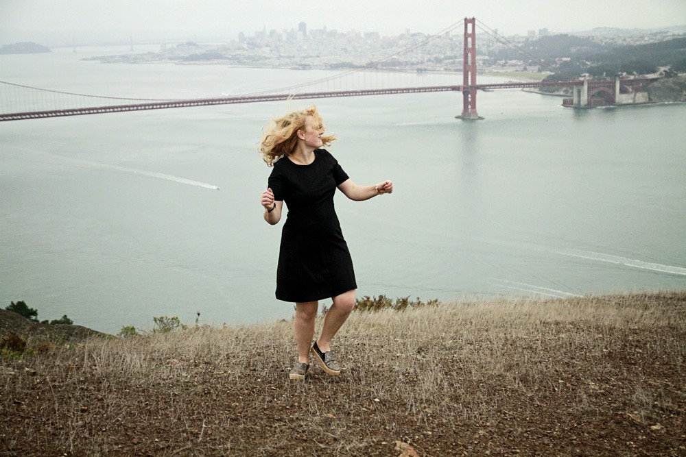 Black Athletica dress, Marin Headlands dress
