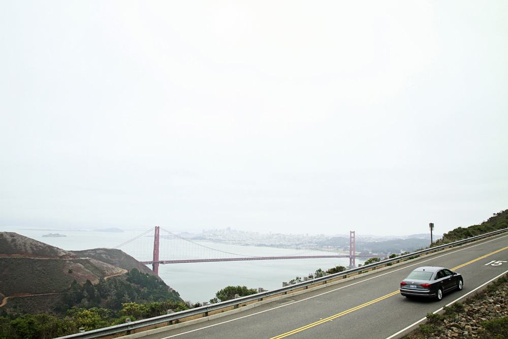 Volkswagon Passat at the Golden Gate Bridge