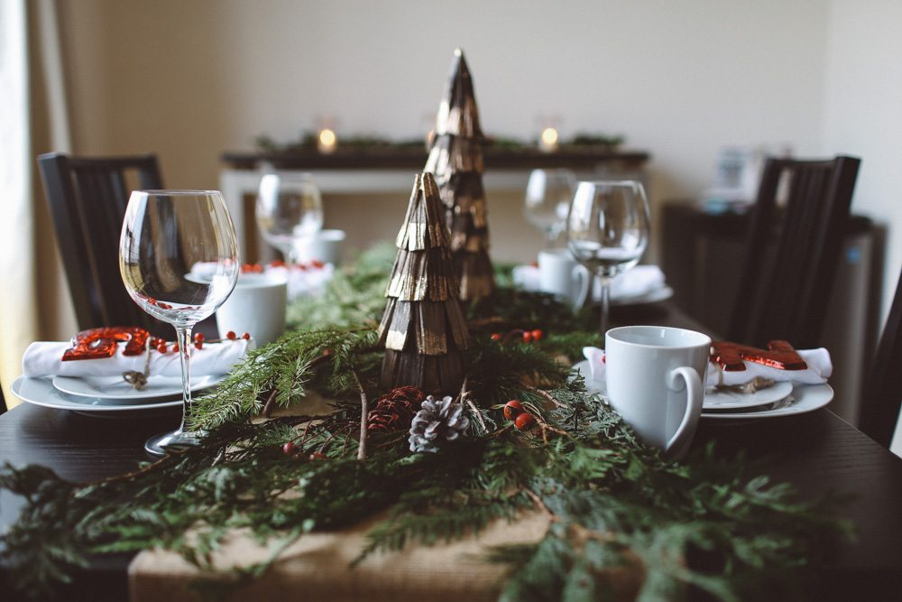 Christmas Brunch table decor