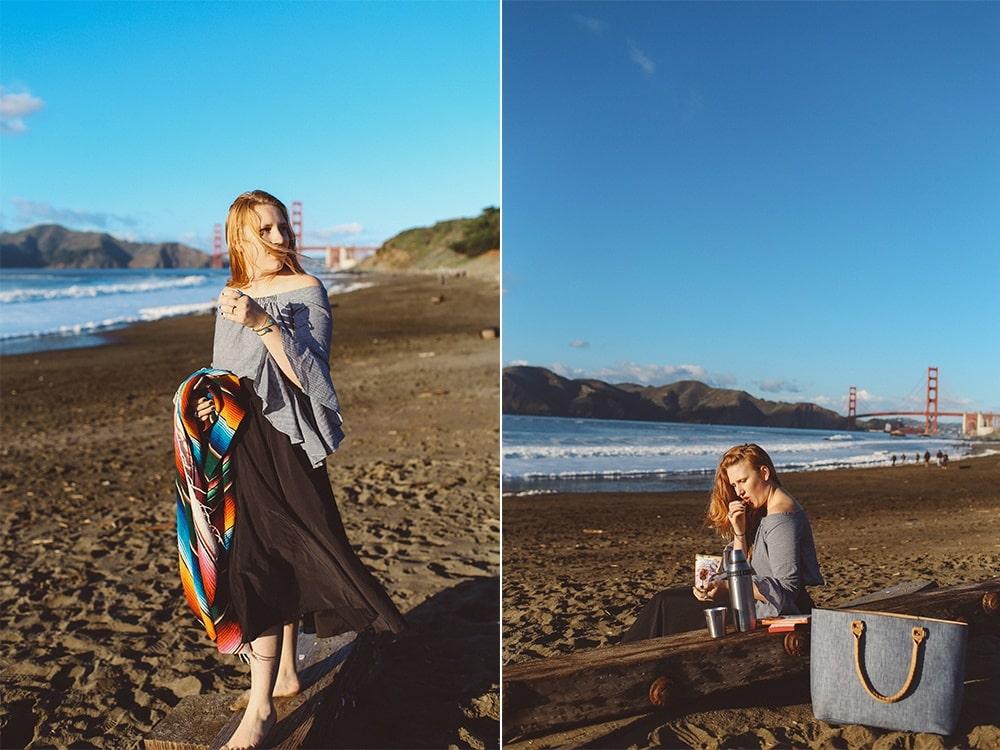 Baker Beach Picnic in San Francisco