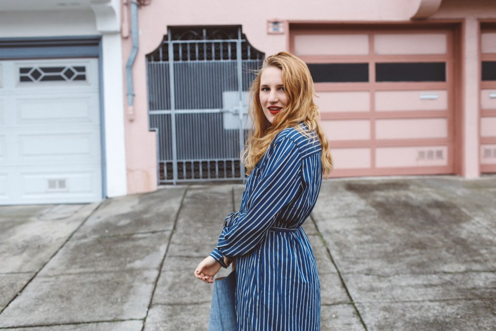 Blue Striped Dress Gap