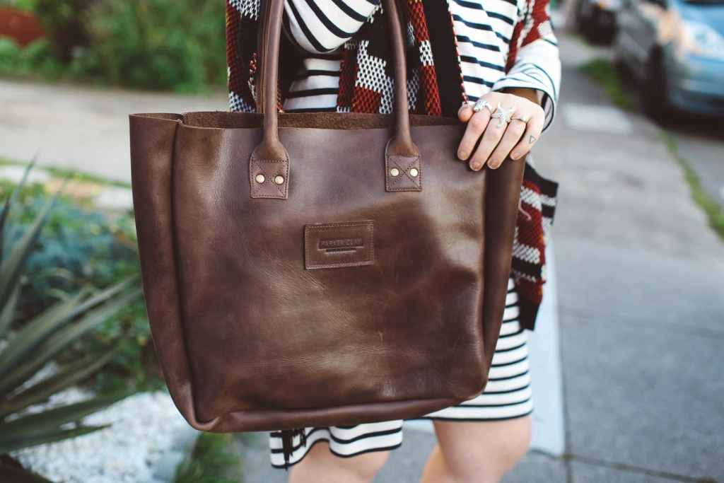 Parker Clay leather tote