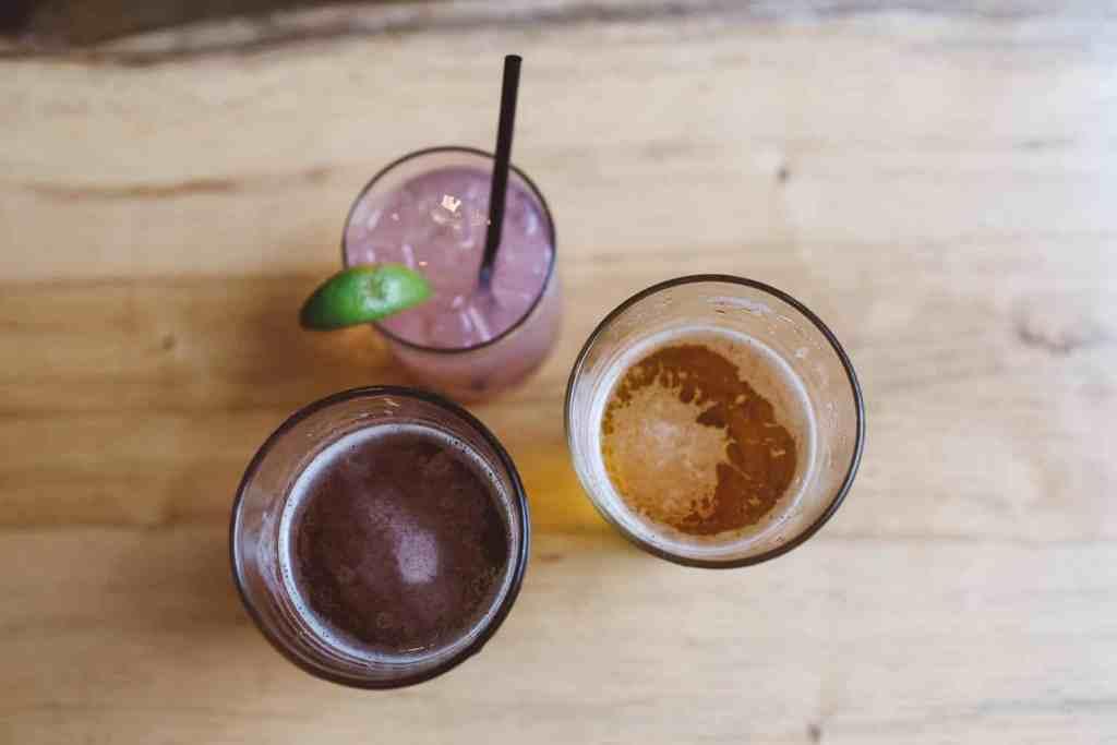 Cocktails on wood
