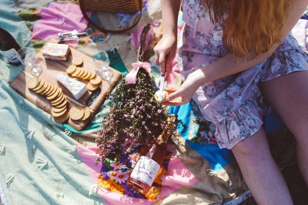 california beach picnic