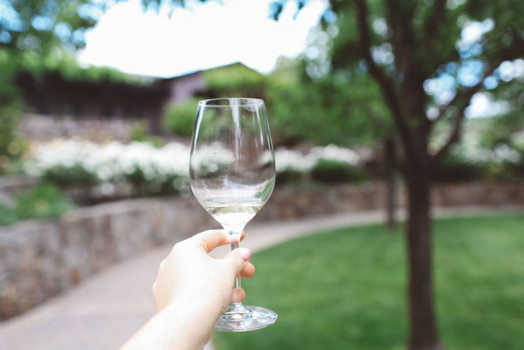 The White Dress at Freemark Abbey in Napa Valley