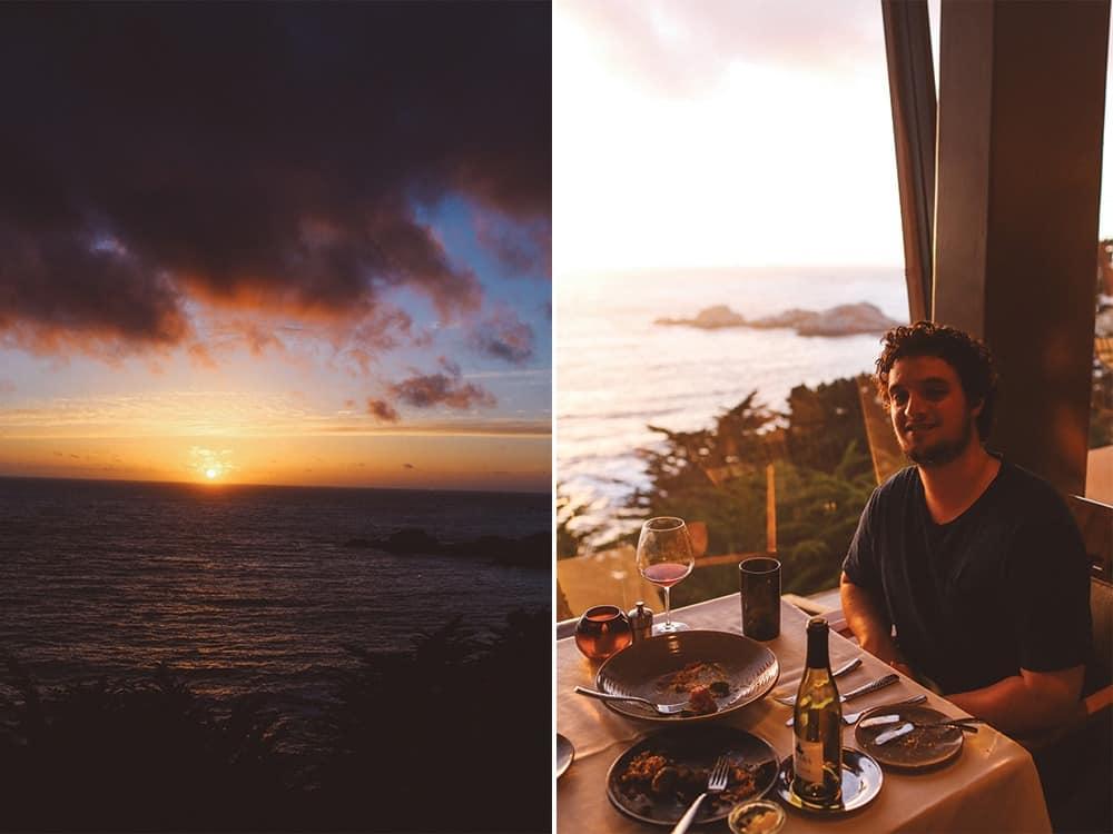 sunset at Hyatt Highlands Inn