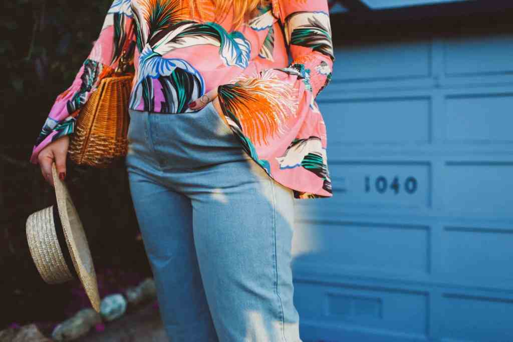 ASOS fringe jeans, bell sleeve top, lombard street