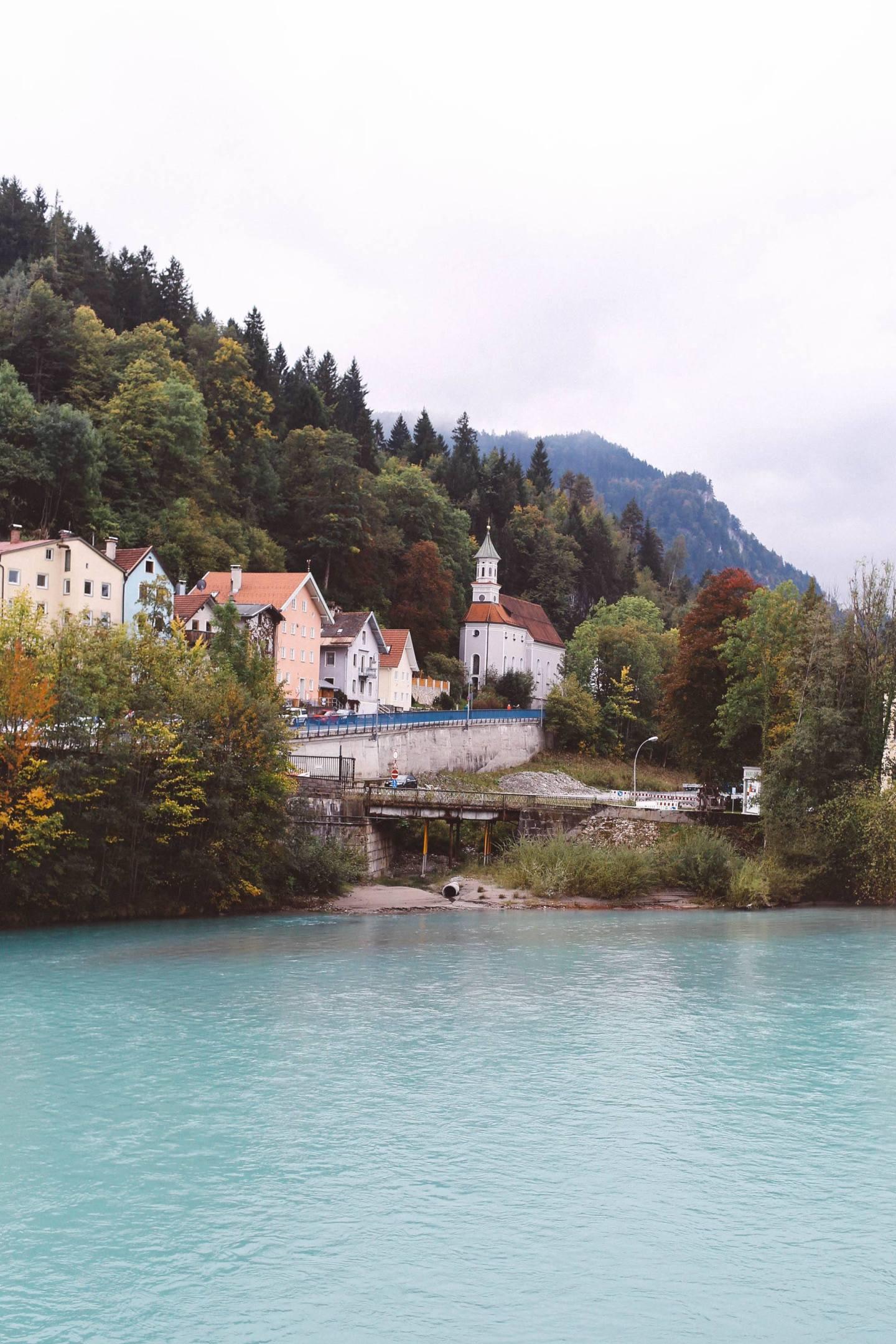 Füssen, Germany river front water