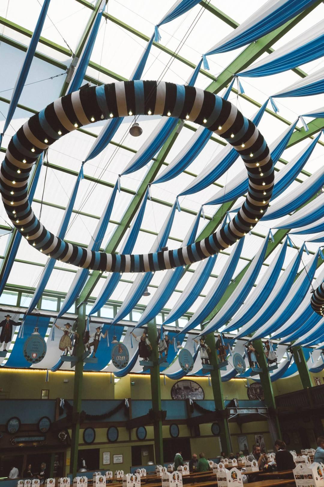 Oktoberfest Munich spaten tent inside