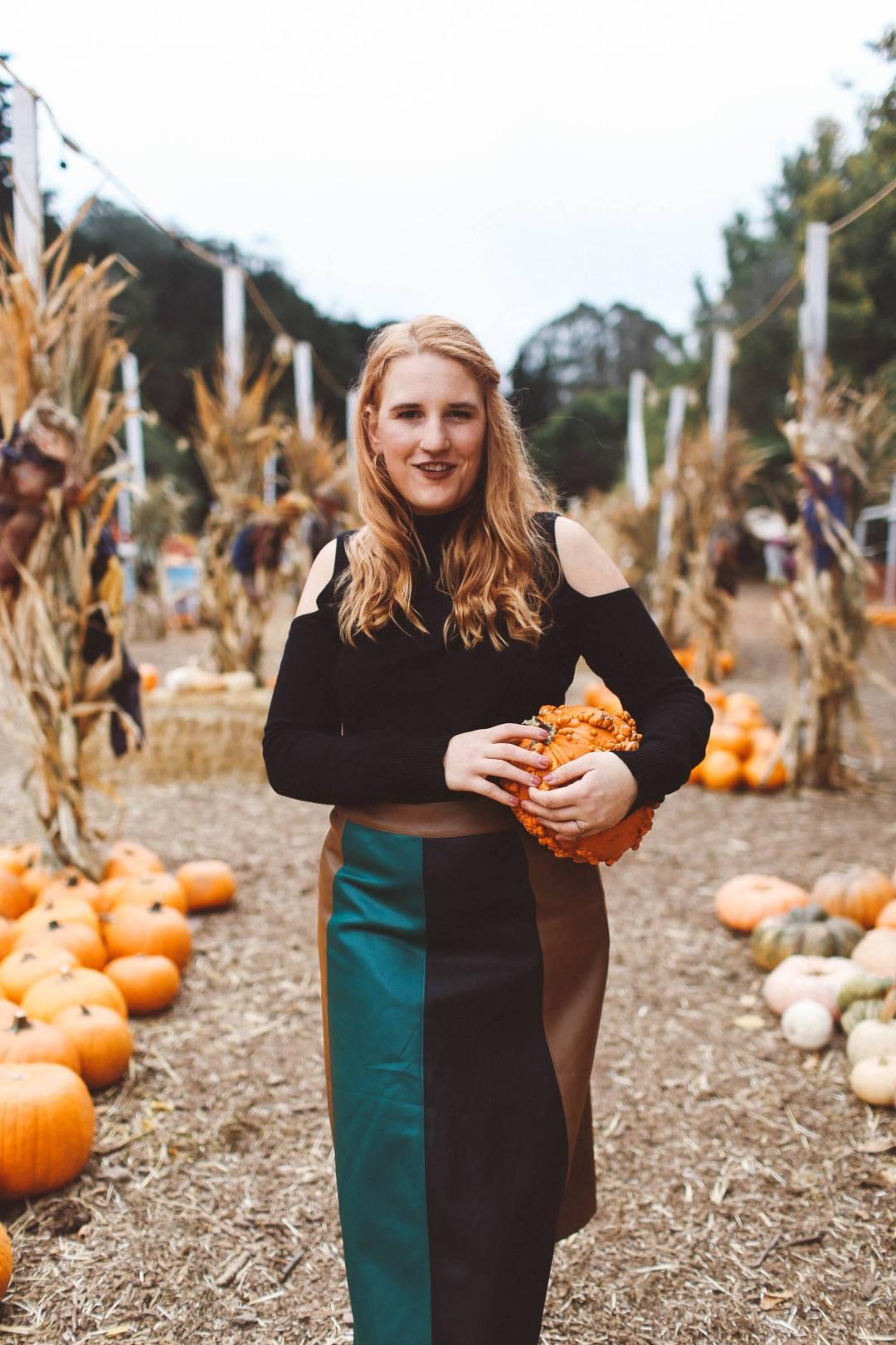 Panel skirt pumpkin patch woman san francisco