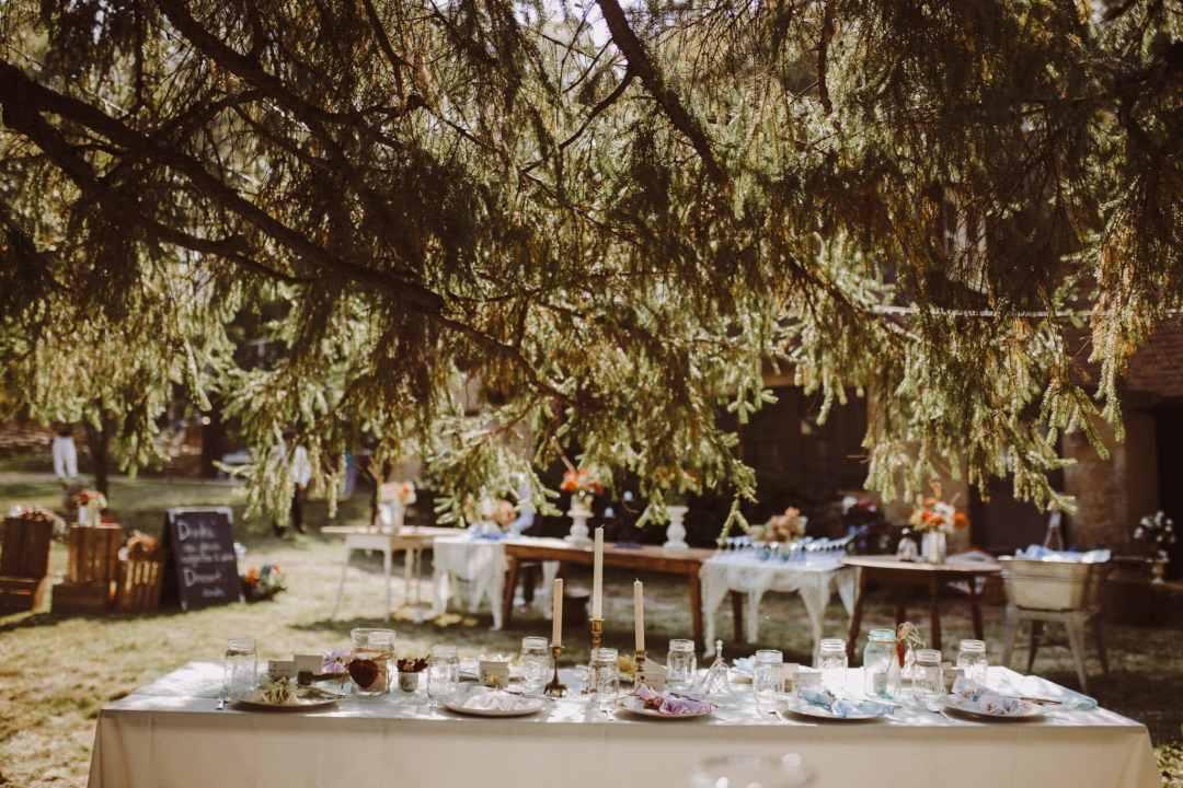 wedding outdoor rustic magical tables decor