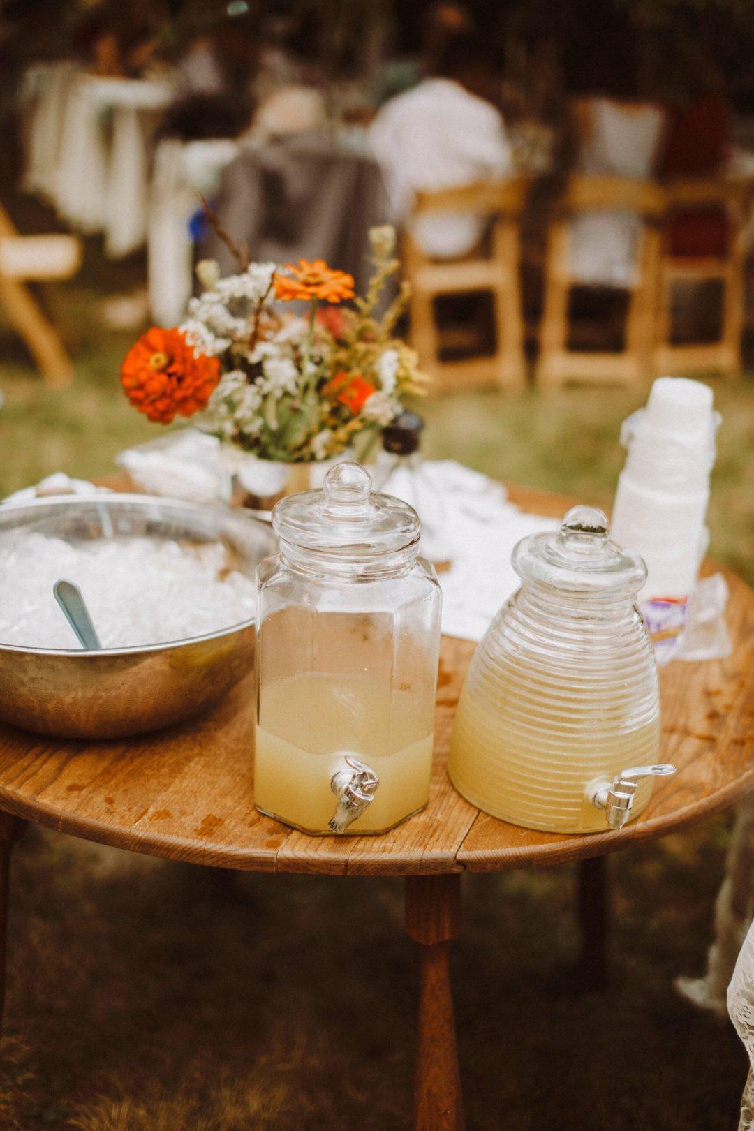 wedding cocktails farm boho
