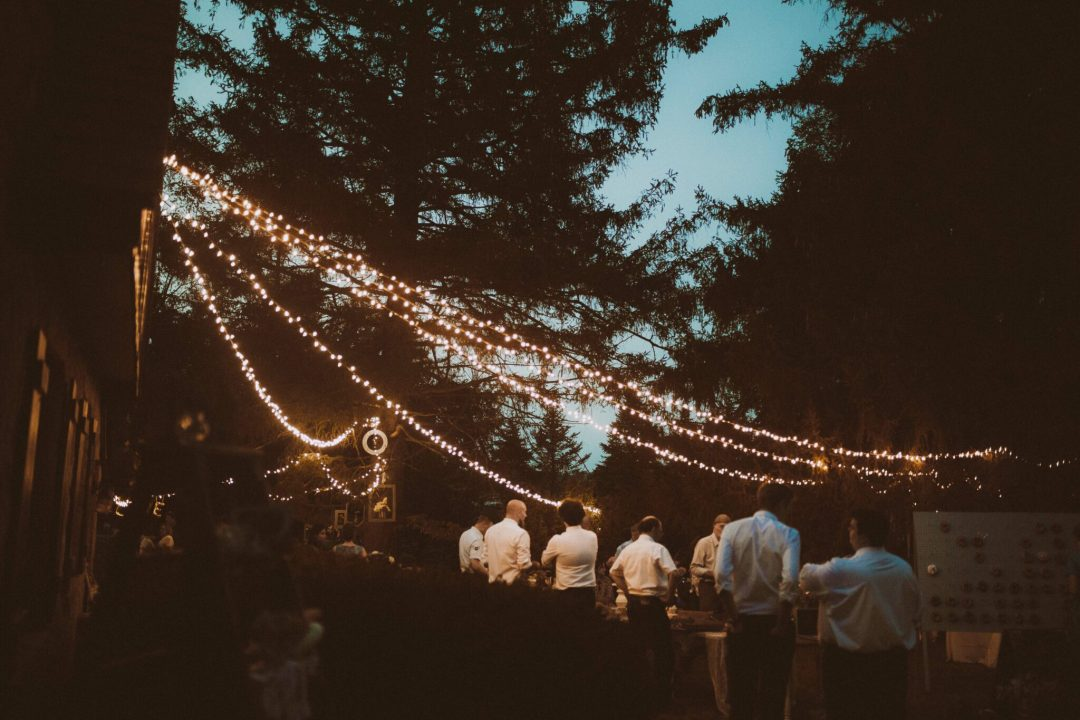 wedding string lights outdoor