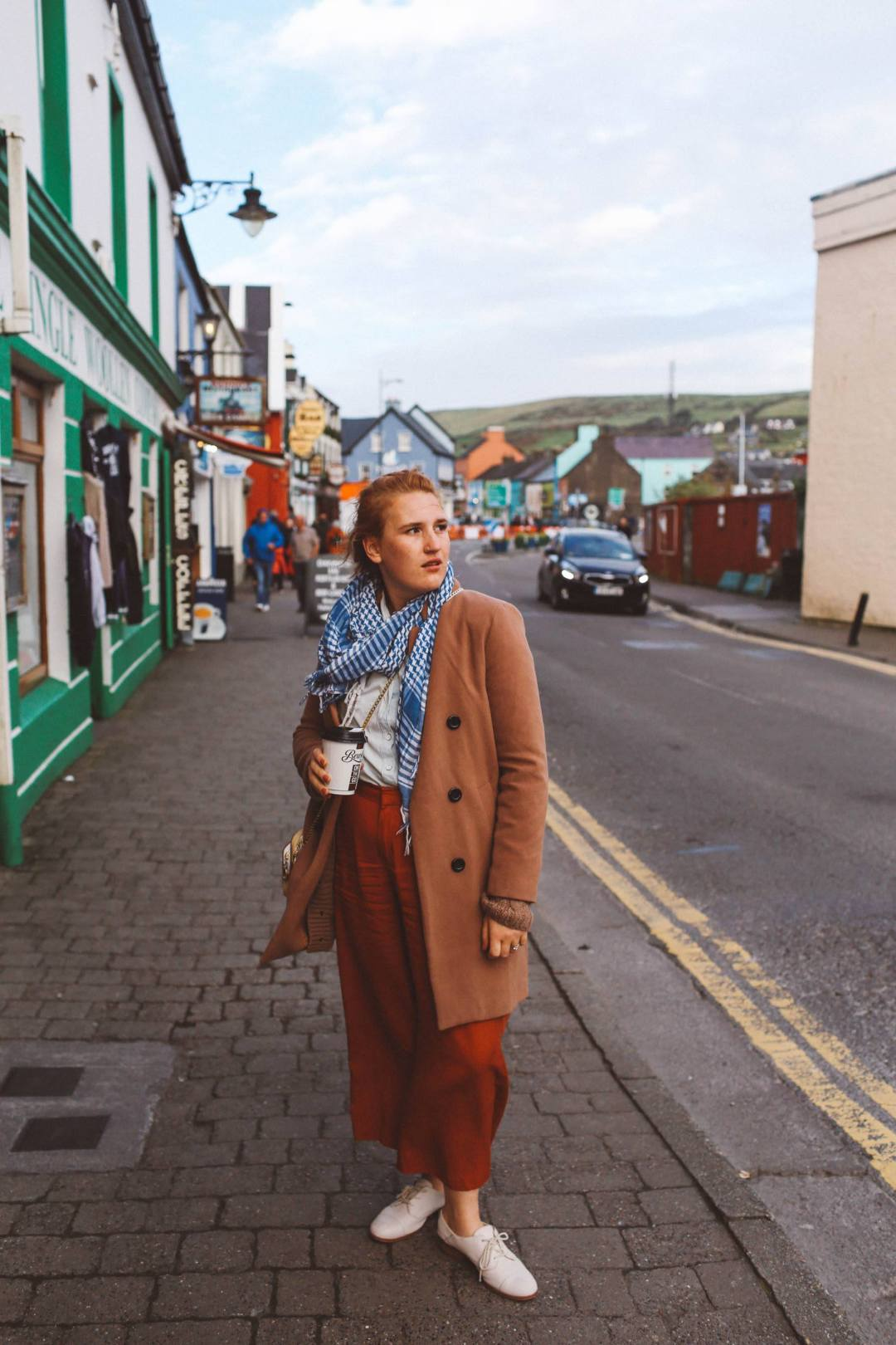 dingle ireland woman coat pants