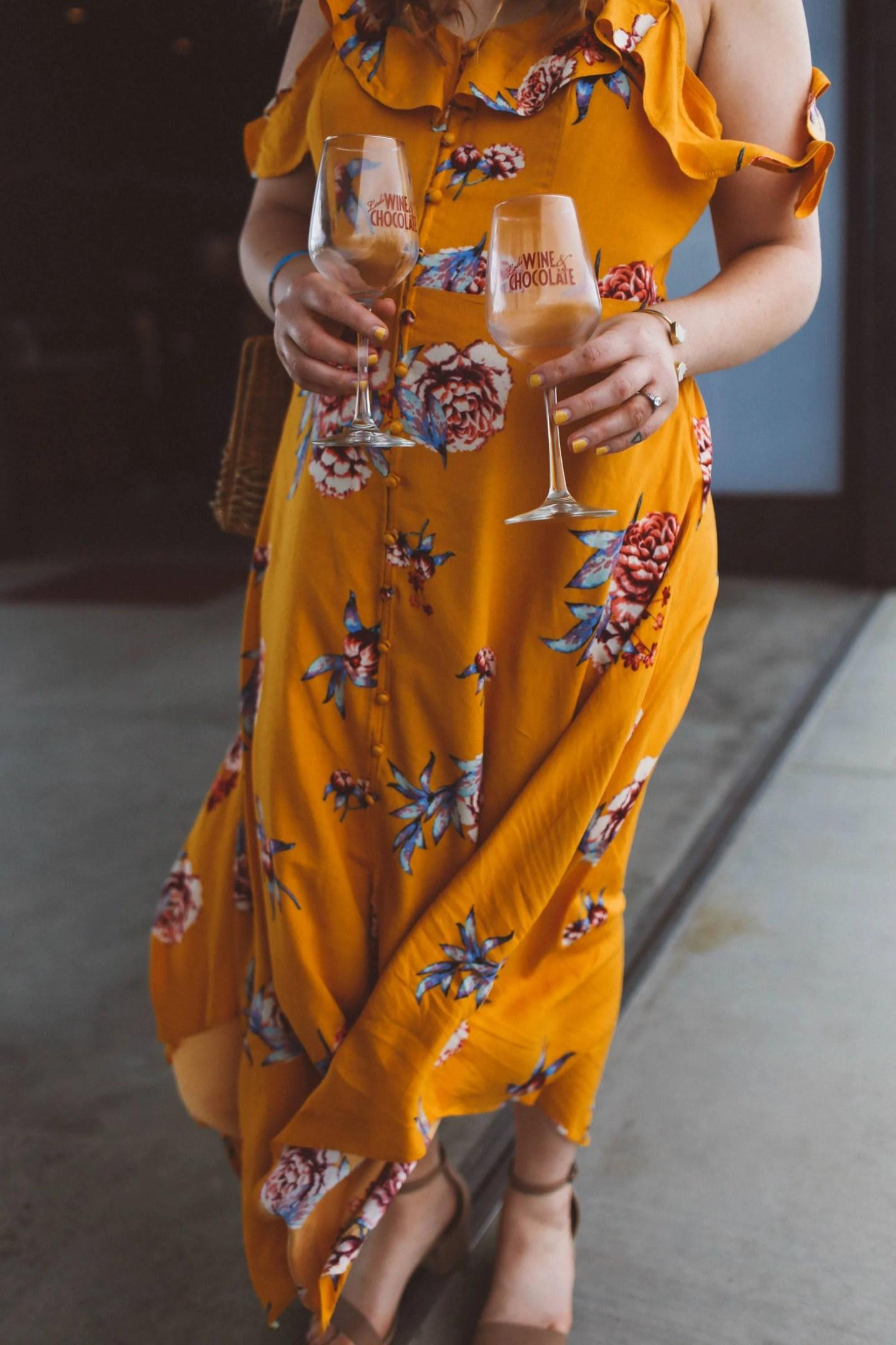 wine tasting dress idea