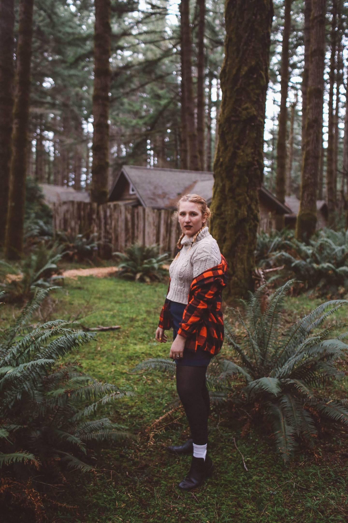 oregon woods fashion plaid shirt