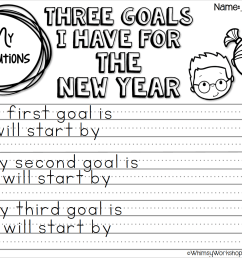No prep printables to guide writing about goals for the new year -  differentiated formats for grade one or grade two writing centers - Whimsy  Workshop Teaching [ 1104 x 1466 Pixel ]