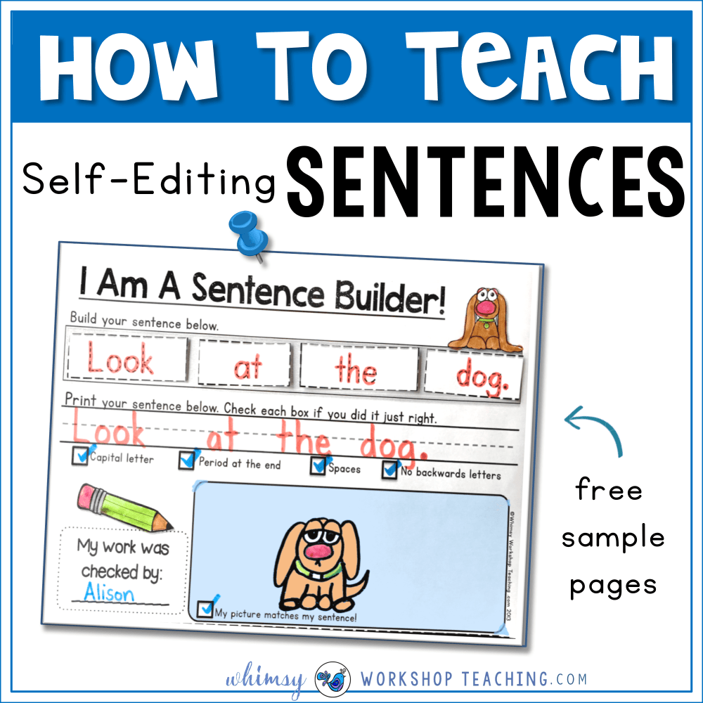 medium resolution of Sentences: Building and Self Editing - Whimsy Workshop Teaching
