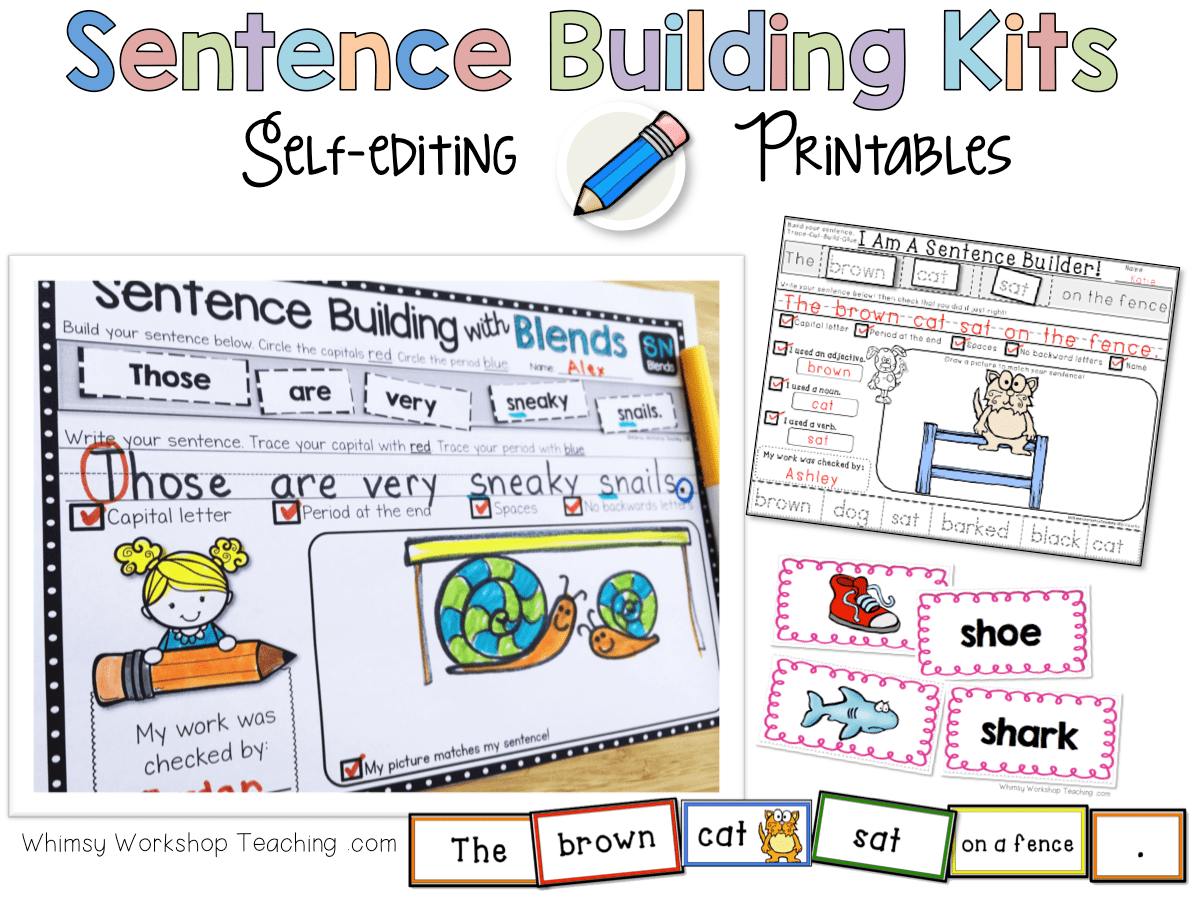 Sentence Building Kits With Printables And Sentence Cards