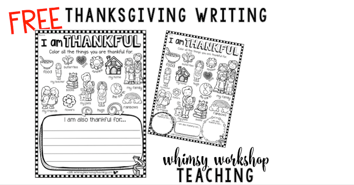 Download this cute I Am Thankful printable for early