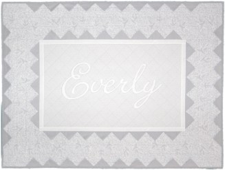Grey Damask Baby Quilt