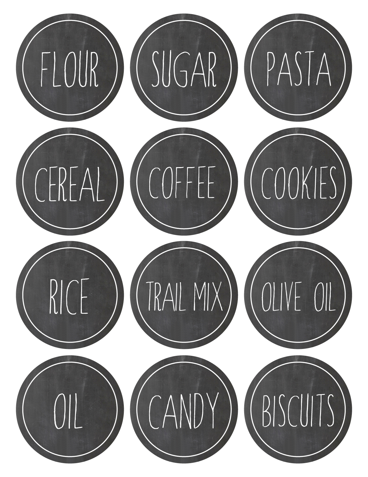 Freebie Kitchen Labels