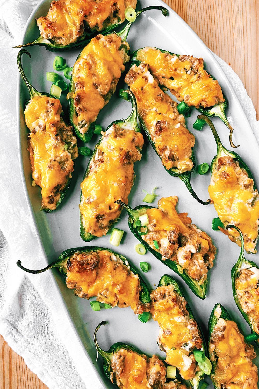 Jalapeno Poppers With Sausage And Cream Cheese Whip Wander