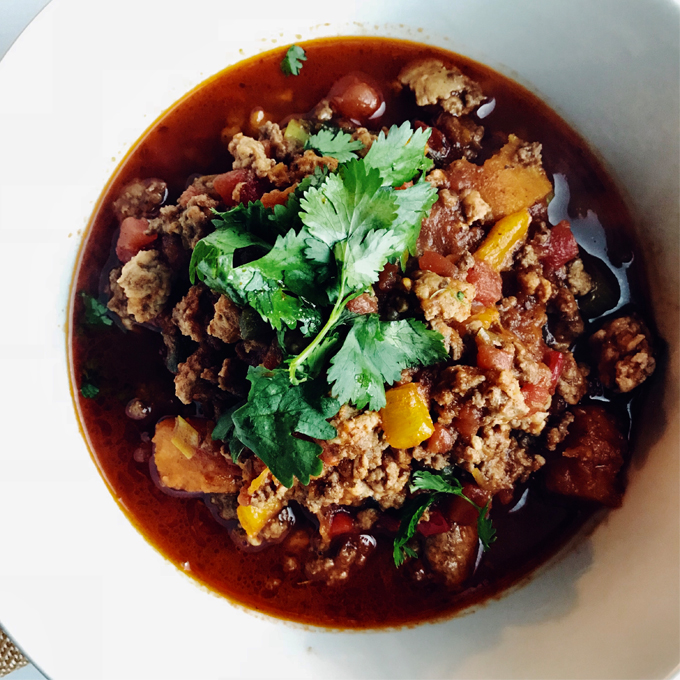 This Paleo Chili with Butternut Squash is a favorite in our house, combining everything we love about a classic chili and fits a Paleo, Keto, SIBO, and Whole30 diet.