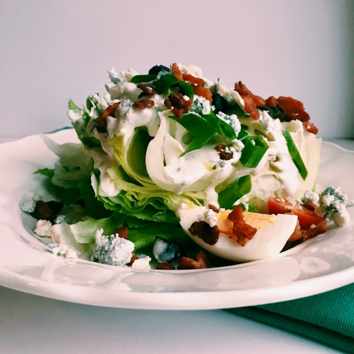 This Wedge Salad with Horseradish Bleu Cheese dressing will likely ruin other wedge salads for you in the future.