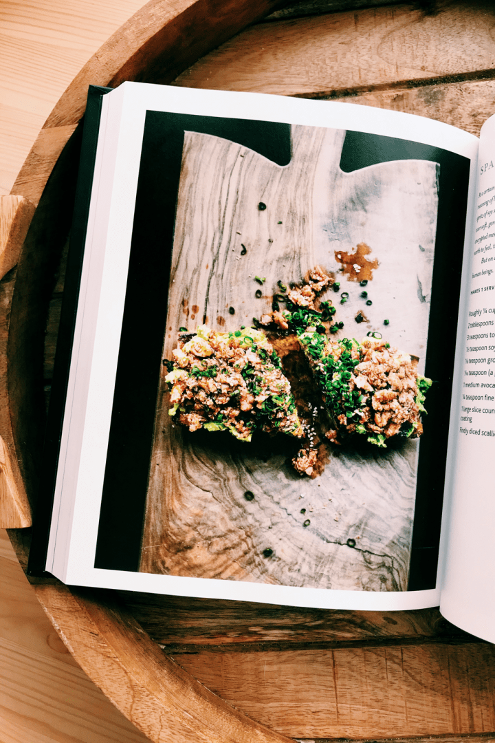 a page inside of the cookbook the art of escapism cooking