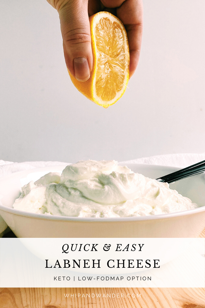 a half a lemon being squeezed by a hand over a bowl of yogurt that contains a spoon