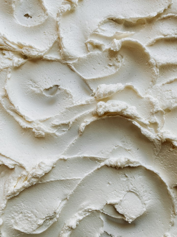 ripples of creamy labneh cheese