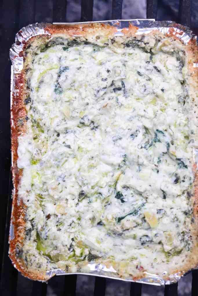 baked Campfire Spinach & Artichoke Dip