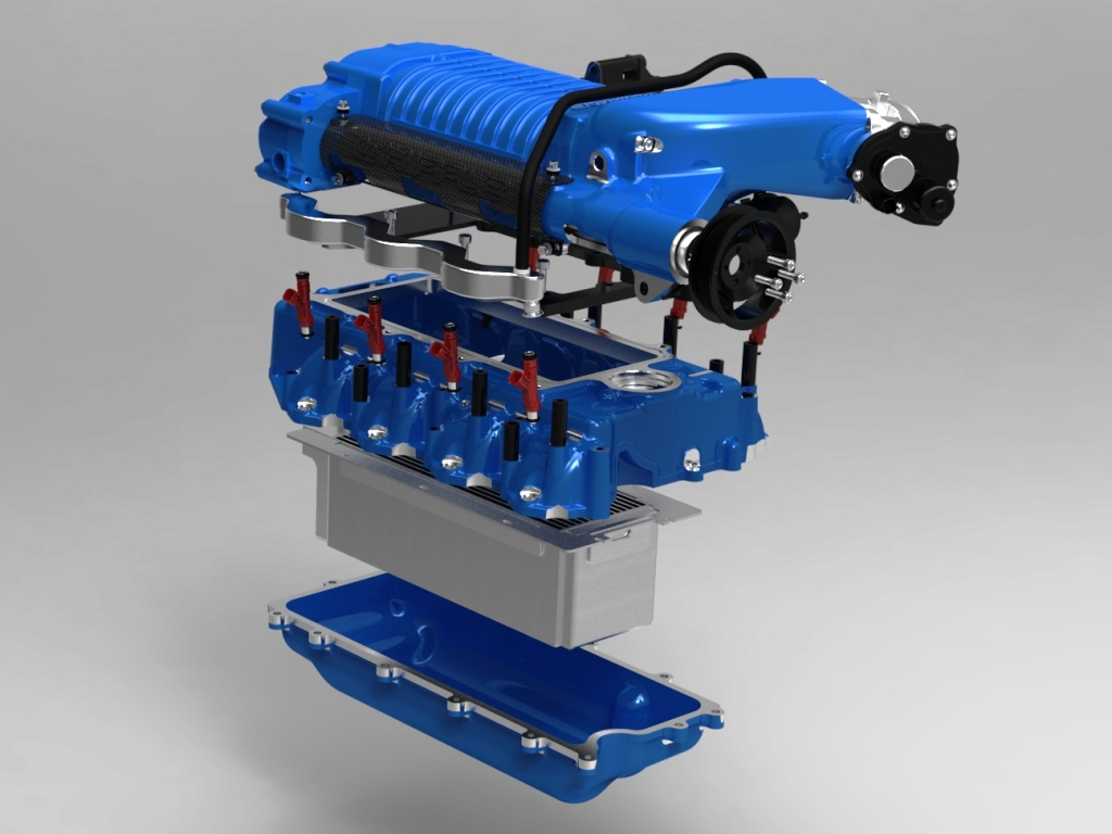 hight resolution of whipple ford 6 2l supercharger exploded view