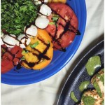 Caprese salad with balsamic reduction on a plate