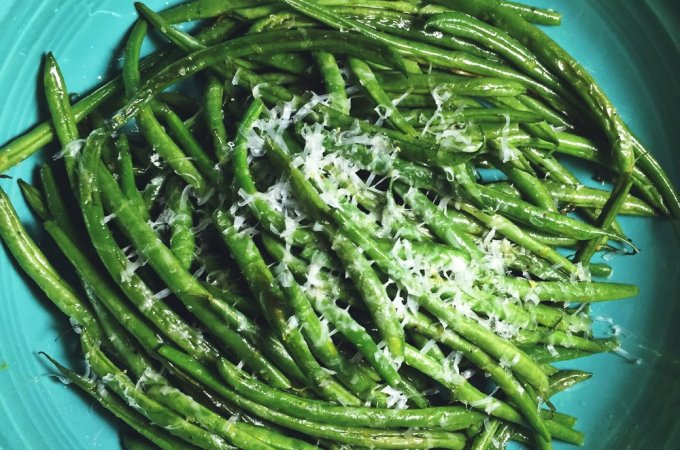 Roasted Lemon and Parmesan Green Beans