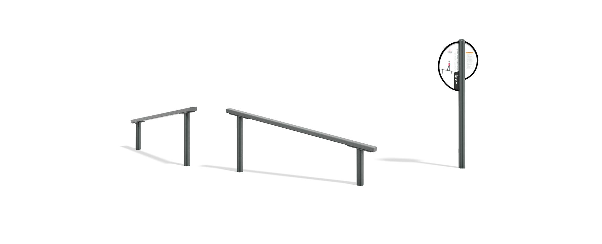 Extreme Angled Balance Beam
