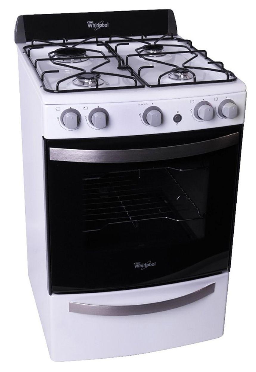 Cocina a gas  4 hornallas  55 cm  Blanco