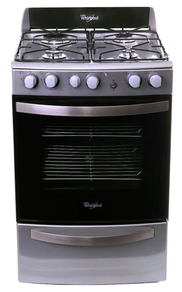Cocina a gas con Grill  4 hornallas  55 cm  Acero