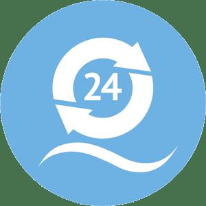 24 Stunden Zirkulation
