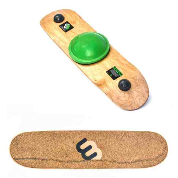 black speckled cork rubber with inlaid logo