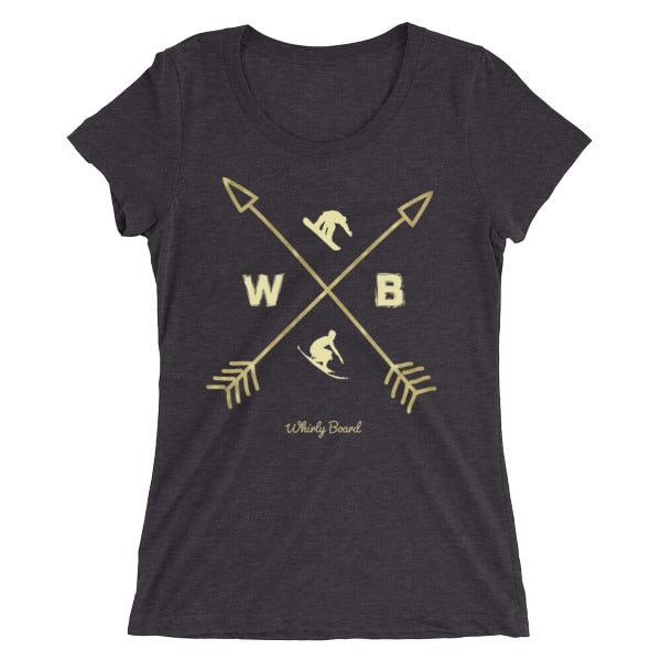Solid Dark Grey colored Compass T-shirt with WB snowboarder and surfer