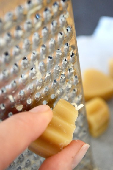 use the fine side to grate