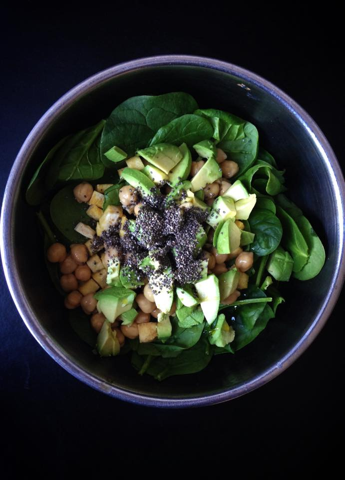 Protein-Packed Spinach Salad | Whisk and Shout