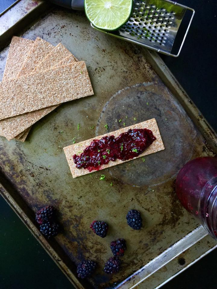 Microwave Blackberry Lime Chia Jam | Whisk and Shout