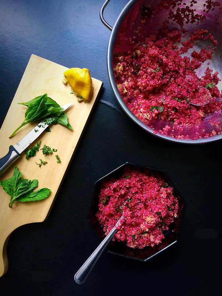 Herbed Beet Quinoa Tabbouleh | Whisk and Shout
