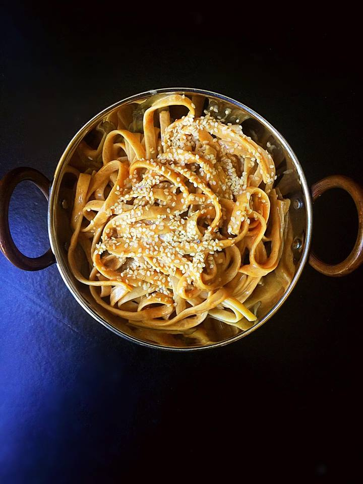 10-Minute Vegan Peanut Sesame Noodles! | Whisk and Shout