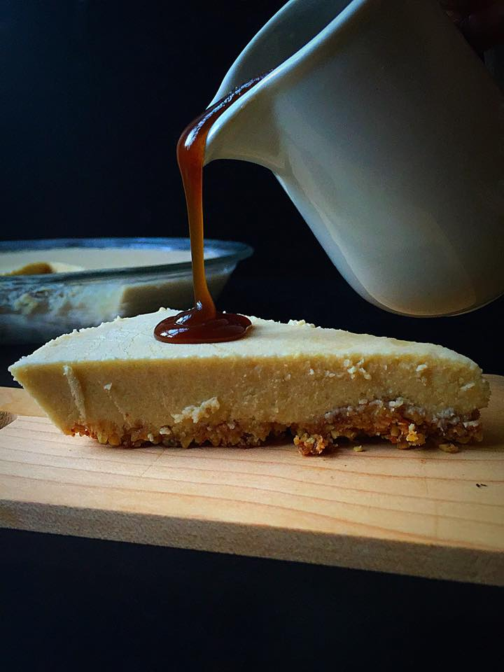 {Vegan + GF} Maple Cheesecake with Caramel Sauce! | Whisk and Shout